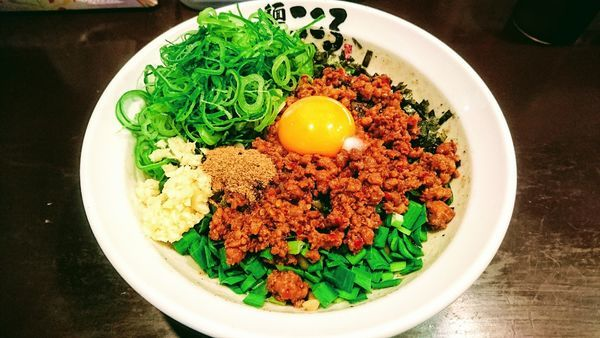 「台湾まぜそば(追い飯付)+九条ねぎ盛り・台湾ミンチ」@麺屋こころ 大船店の写真
