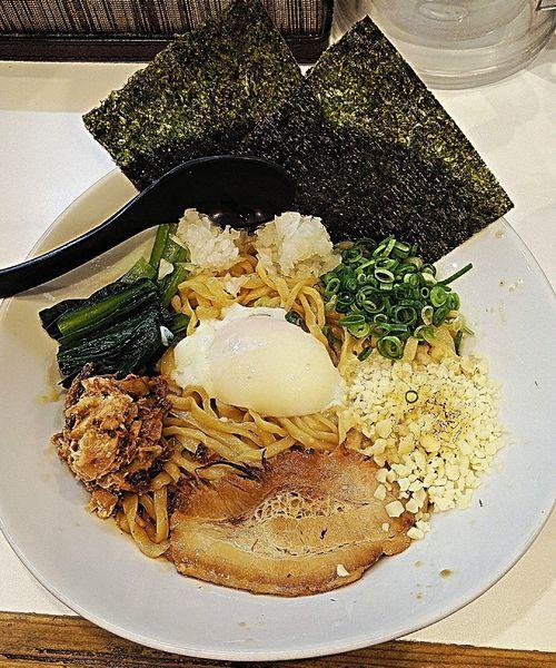 「海老まぜ麺 850円」@海老・特濃煮干そば まるはの写真