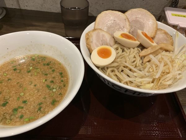 「豚骨醤油つけ麺+チャーシュー+味玉」@麺屋 BONCHIの写真
