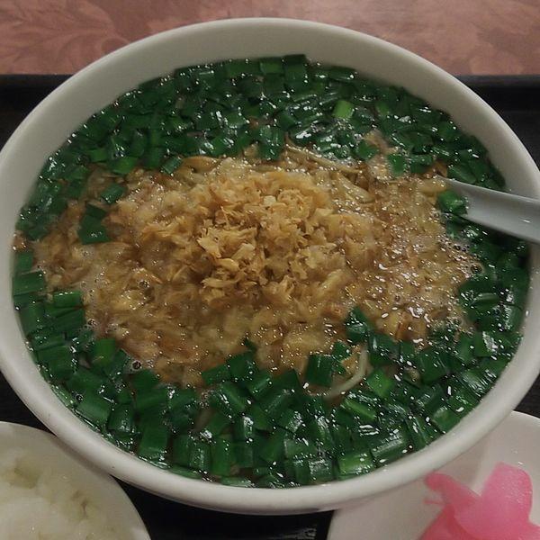 「ランチ麺セットD(青ねぎニララーメン)」@彩雅の写真