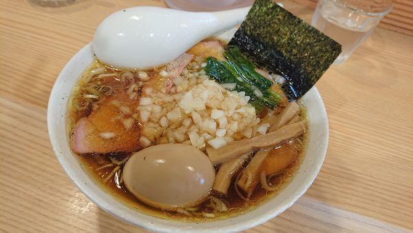 「チャーシュー麺+味玉」@白河手打中華そば 中村の写真