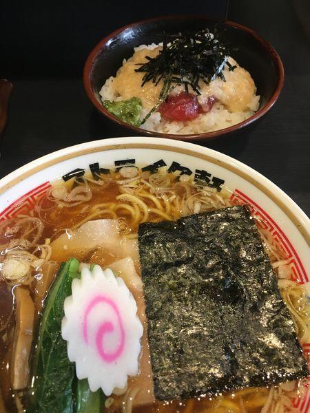 「ストレート¥780+キハダマグロ丼¥300」@ストライク軒の写真