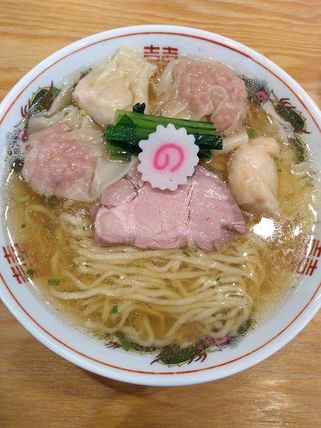 「ワンタン麺 (山椒) 1040円 (中盛)」@キング製麺の写真