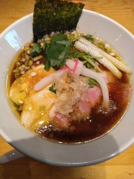 「鶏SOBA 880円」@Ginza Noodles むぎとオリーブの写真