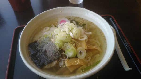 「浜塩ラーメン 850円」@お食事処 会津嶺の写真