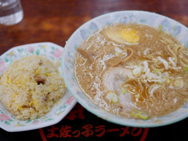「Aセット 麺硬め」@環七土佐っ子ラーメン 池袋店の写真