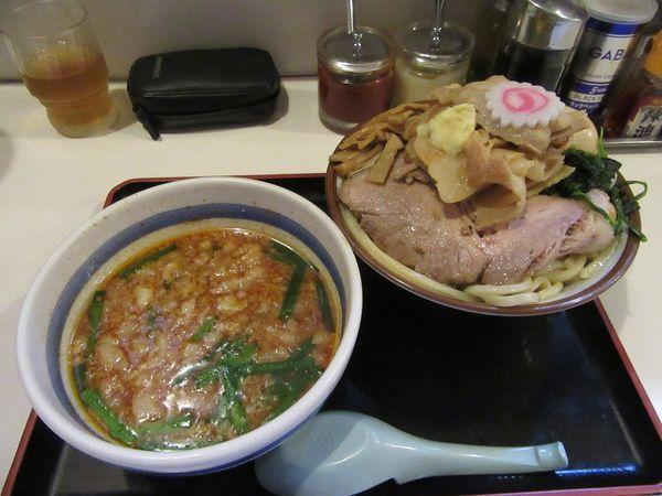 「限定 肉つけ麺 ピリ辛(800円)+味玉120円」@麺屋ゆうの写真