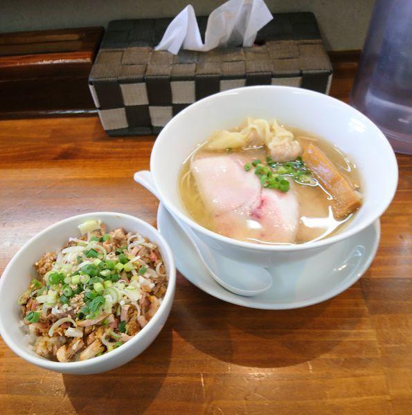 「自家製麺のあご節コンチータ」@塩らーめん 千茶屋の写真