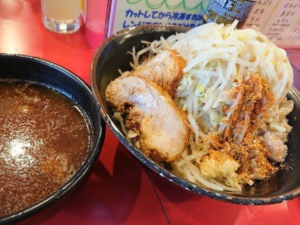 「辛いつけ麺300+豚」@麺屋 桐龍の写真