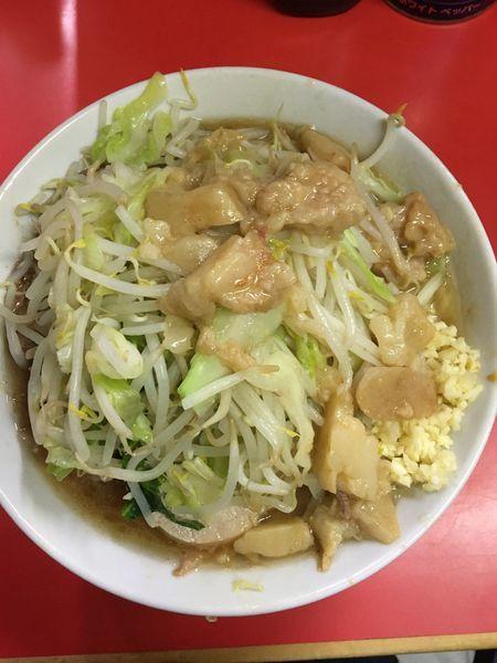 「小ラーメン 味薄め  ニンニク アブラ」@ラーメン二郎 松戸駅前店の写真