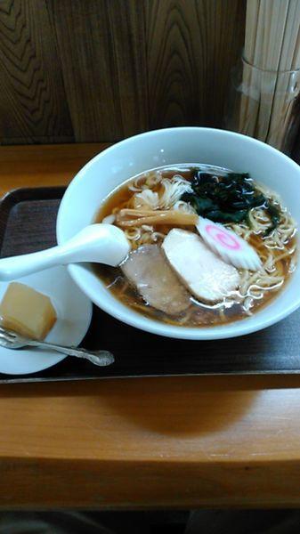 「鶏だしラーメン(正油) 520円」@司鮨の写真