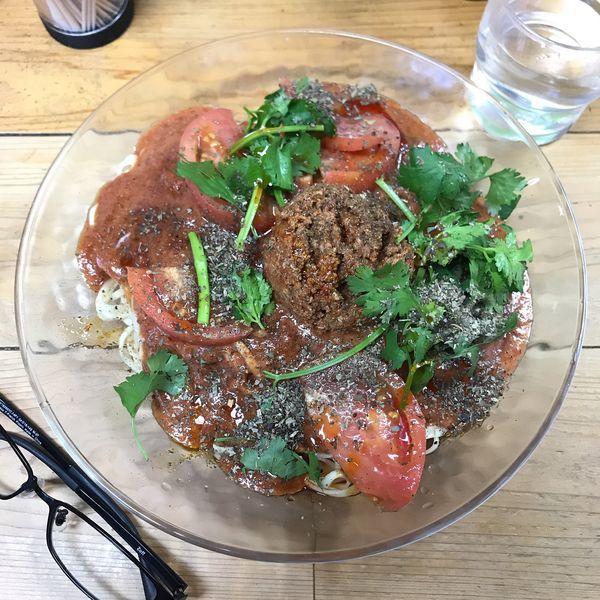 「冷しトマト担々麺 並」@自家製麺 てんかの写真
