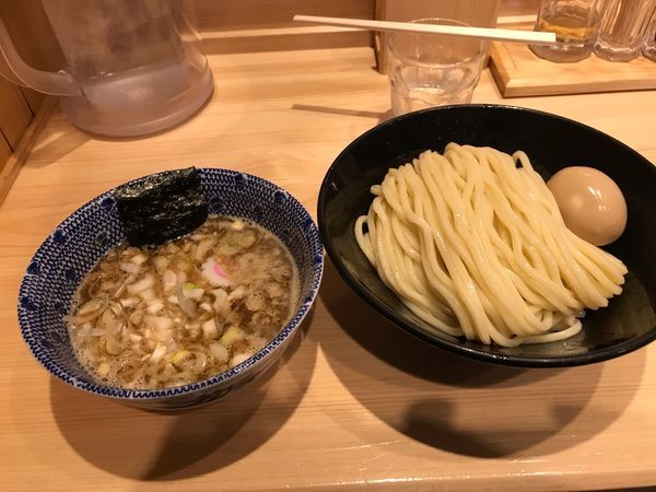 「つけ麺中盛+味玉」@頑者の写真