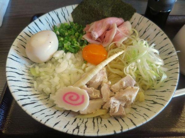 「濃厚玉子と比内地鶏の油そば 780円 ※冷やしversion」@麺匠えにしの写真