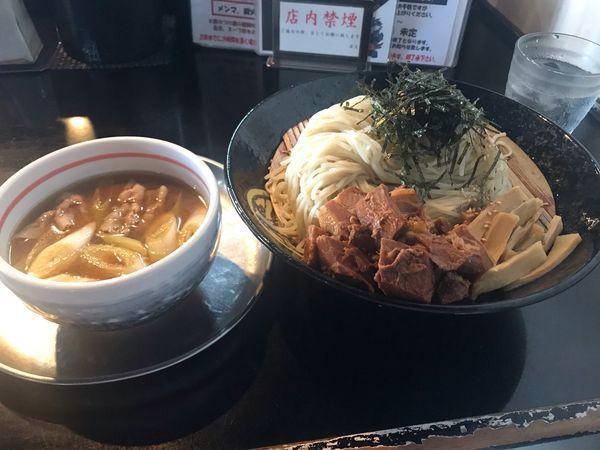 「豚のつけ麺(細麺仕様)並盛 OXP 930円」@麺坊 炗の写真
