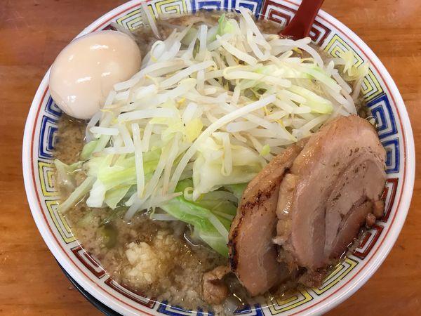 「味玉もやしラーメン 中 800円 醤油」@麺屋 登夢道 茅ヶ崎本店の写真