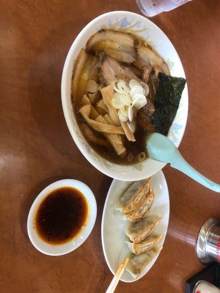 「チャーシューメン、にんにく餃子」@蕃龍の写真