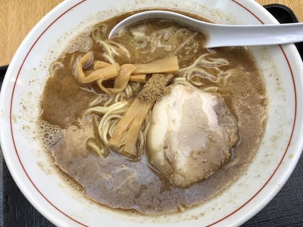 「濃厚魚介ラーメン780円+大盛り100円」@GANJA RAMENの写真