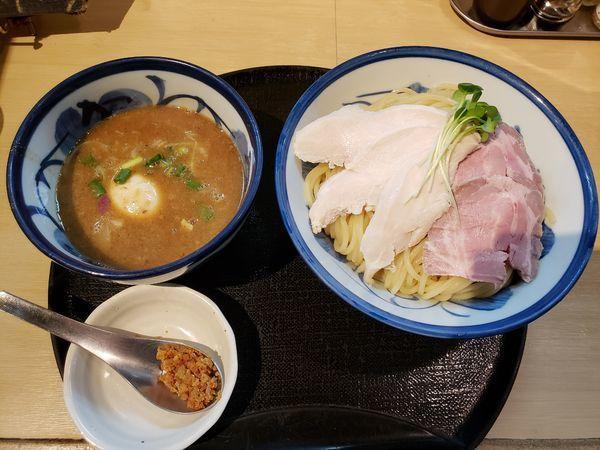 「鶏と魚介特製のつけ麺(大盛)」@つけ麺 たけもとの写真