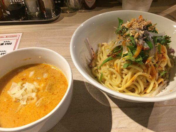 「辛味噌つけ麺850円(イレギュラーメニュー)」@ajito ismの写真