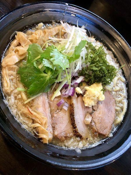 「【限定】燕三条背脂らーめん 醤油 ¥850」@麺や 笑 ~Sho~の写真