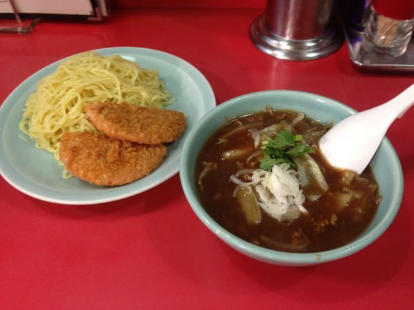 「ソースつけ麺+ハムカツ」@中華料理 大輦の写真