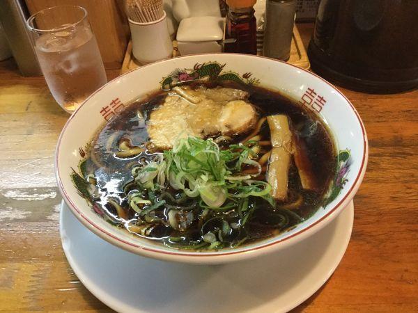 「黒醤油ラーメン(¥670)」@金久右衛門 梅田店の写真