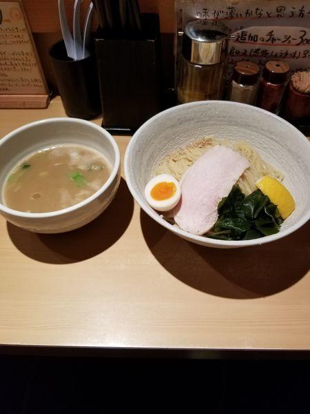 「塩つけ麺 中盛」@つけ麺 道の写真