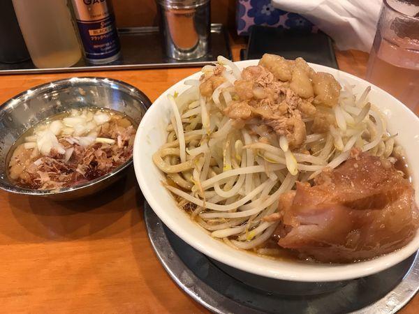 「大ラーメン+アブネギタマ」@麺屋穴場の写真