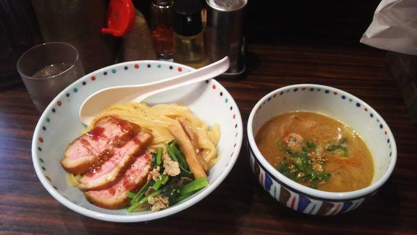 「鴨つけ麺白湯仕立【限定】」@らー麺 あけどやの写真