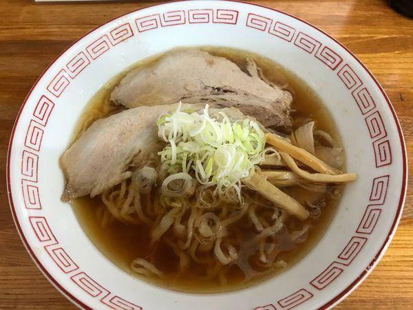 「中華そば 麺半分  こってり  500円」@中華そば 琴のの写真