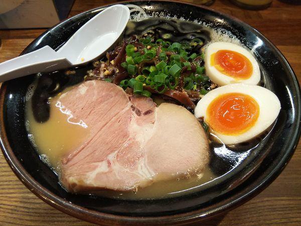 「【限定】黒豚骨 +味玉:サービス券」@豚骨らあめん専門店 とんこつ家ZUNの写真
