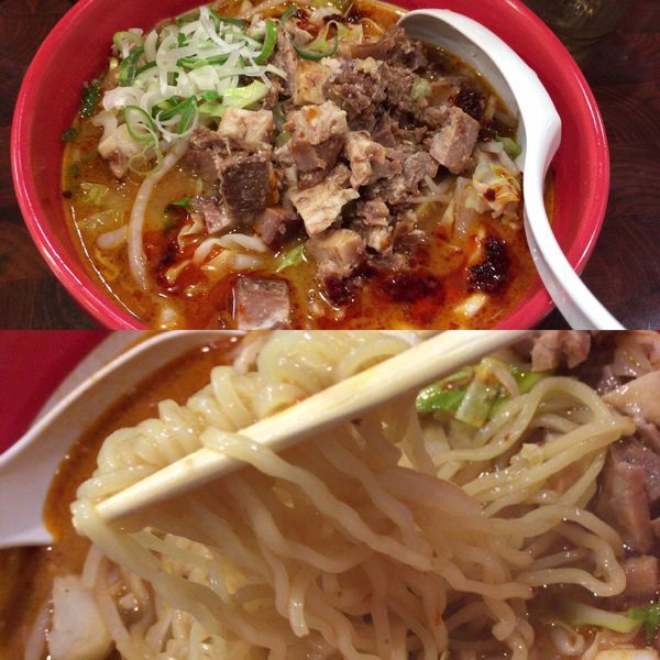 「ピリ辛ラージャン麺」@龍の子 所沢店の写真