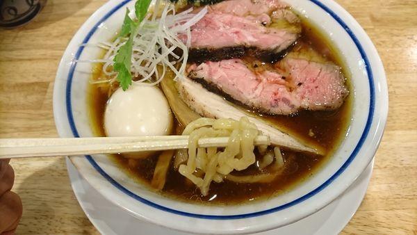 「特製醤油」@手打式 超多加水麺 ののくらの写真