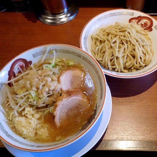 「小ラーメン(750円)つけ麺変更(100円)ニンニク・アブラ」@ラーメン豚山の写真