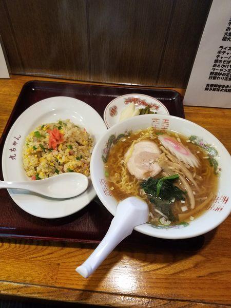 「半チャーハンセット920円」@九ちゃんラーメンの写真