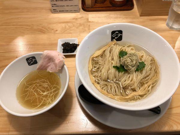 「一周年塩つけ蕎麦」@中華そば 髙野の写真