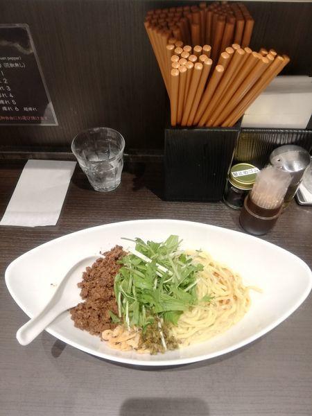 「つゆなし担担麺 880円」@四川担担麺 阿吽 キッテグランシェ店の写真