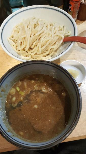 「つけもり並+ニンニク無料」@煮干麺 月と鼈の写真