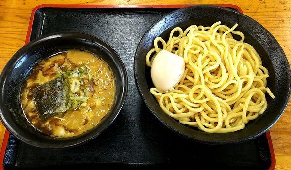「つけ麺(中) 玉ねぎ&味玉」@つけめん・らあめん 福は内の写真