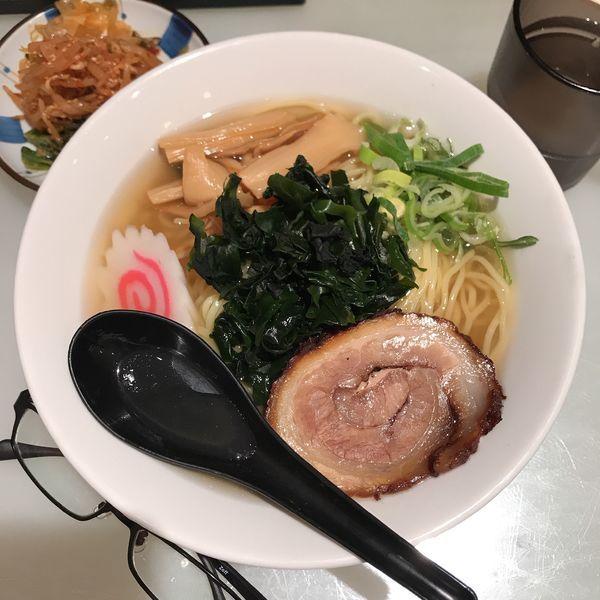 「しじみ醤油ラーメン(冷やし)」@九州博多らーめん麺屋 悟空 立川店の写真