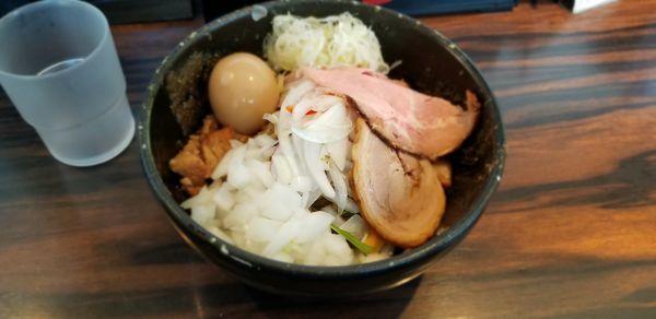 「混ぜそば 超ニボニボ」@(麺)並木商事の写真