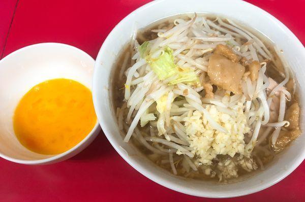 「小麺半分ニンニクアブラ」@ラーメン二郎 千住大橋駅前店の写真