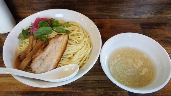 「濃厚ホタテつけ麺 大盛 ¥1,050」@八王子 響の写真