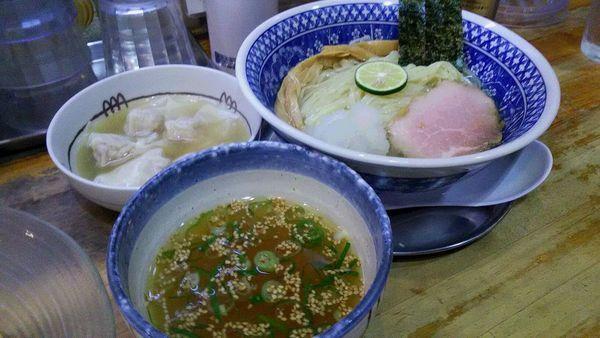 「[限定]昆布出汁潮ワンタンつけ麺」@流星軒の写真