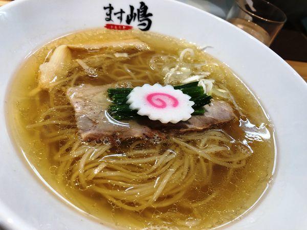 「中華蕎麦+ばけ(替え玉)」@中華蕎麦 ます嶋の写真