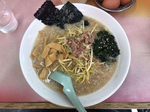 「ネギメンマラーメン+中盛」@ラーメン かいざんの写真