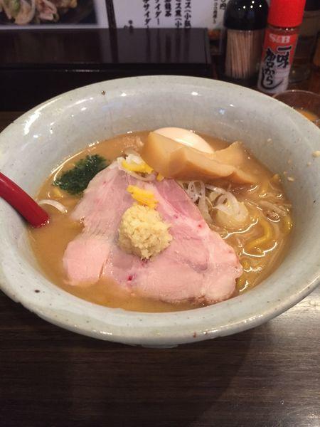「味噌ラーメン+煮卵」@味噌専門麺屋大河の写真