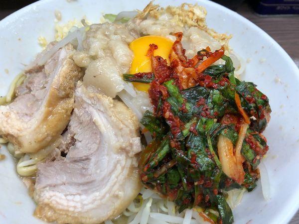 「小汁なし麺少なめニンニクアブラ」@ラーメン二郎 横浜関内店の写真
