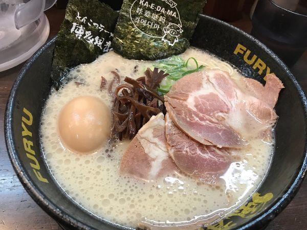 「丸福豚骨ラーメン 880円」@とんこつラーメン博多風龍 上野店の写真
